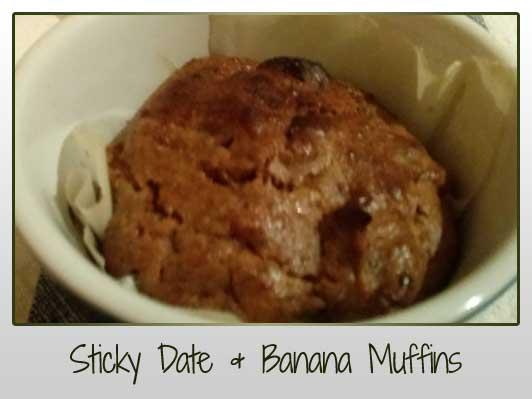 Sticky Date & Banana Muffins