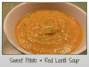 Sweet Potato & Red Lentil Soup