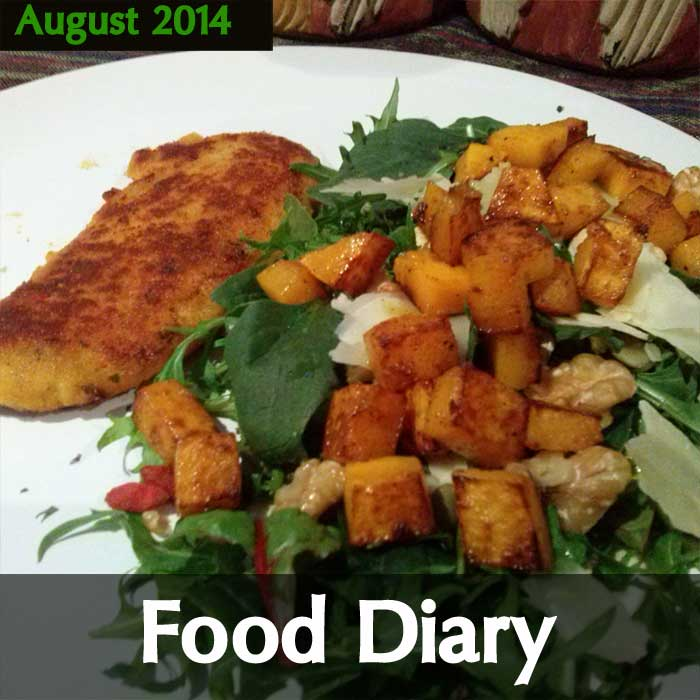 August Meals Food Diary