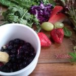 Blueberries, Ginger, Strawberries, Grapes, Salad, Silverbeet
