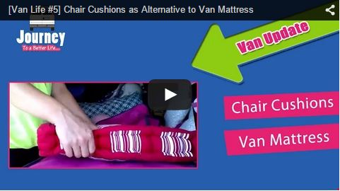 Chair Cushions as Alternative to Van Mattress [Video]