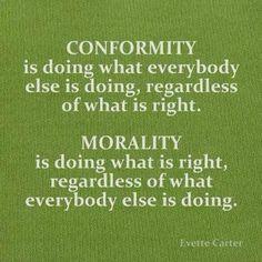 conformity-morality