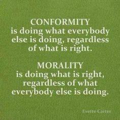 Conformity vs Morality (Discussion)
