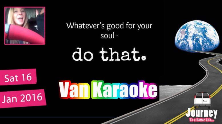 "Van Karaoke – Shifting a ""mood"""