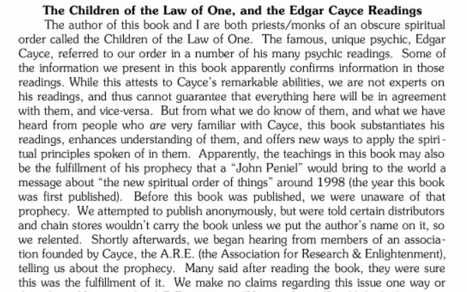 The Children of the Law of One [Book Notes]