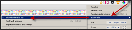 bookmark bar