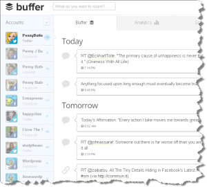 BufferApp Twitter Scheduling