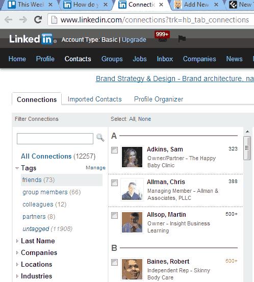 LinkedIn Dec 2012