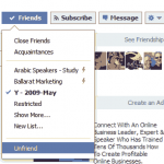 How do I unfriend someone on Facebook (New Way)